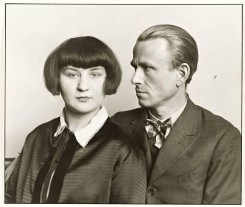Le peintre allemand Otto Dix et sa femme Martha, 1926.